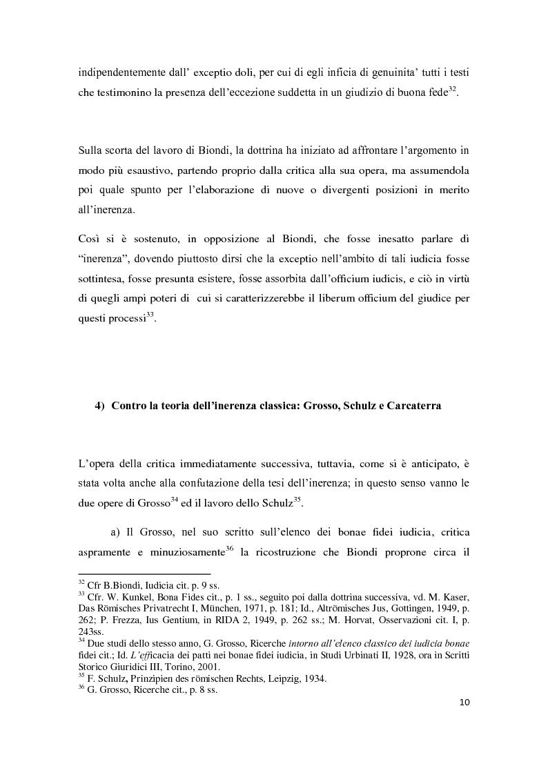 Anteprima della tesi: Exceptio doli e iudicia bonae fidei, Pagina 11