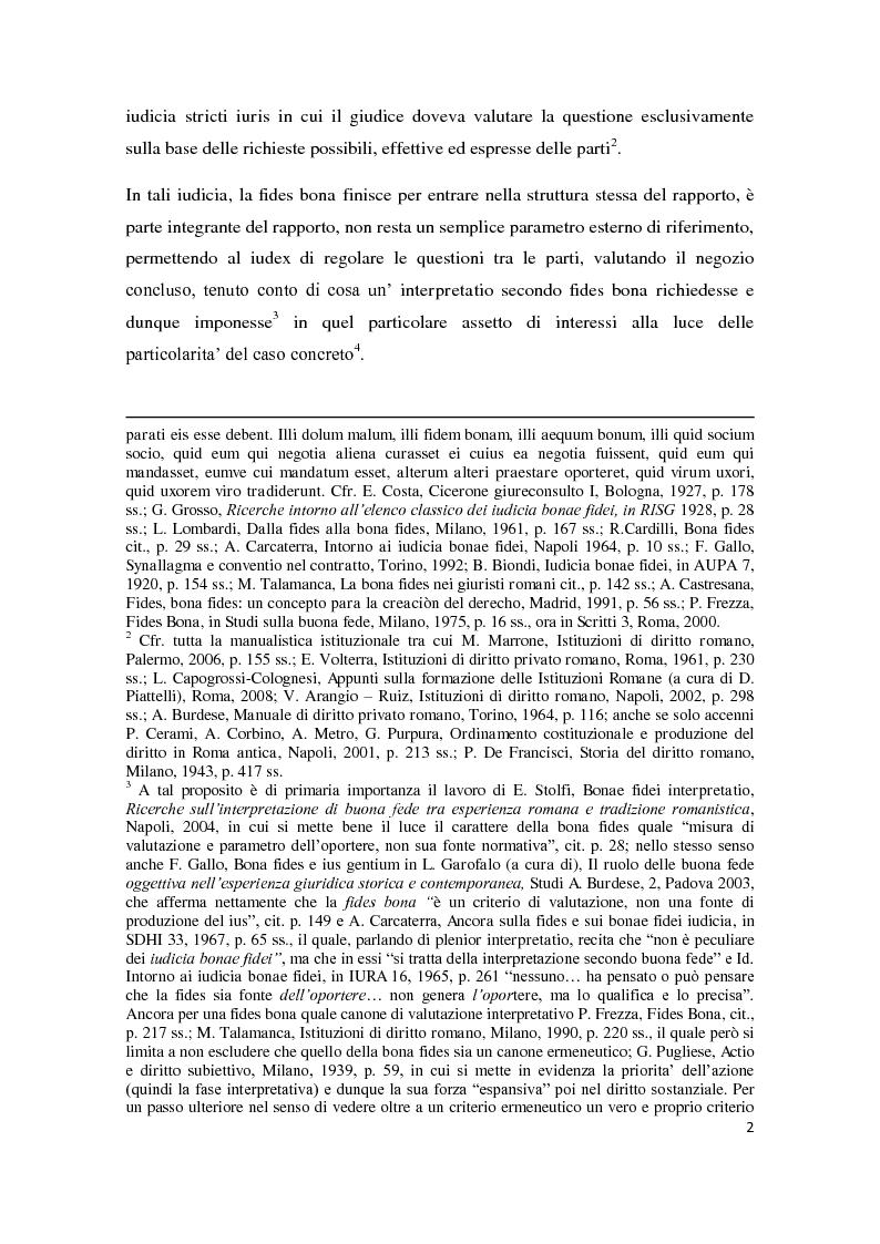 Anteprima della tesi: Exceptio doli e iudicia bonae fidei, Pagina 3