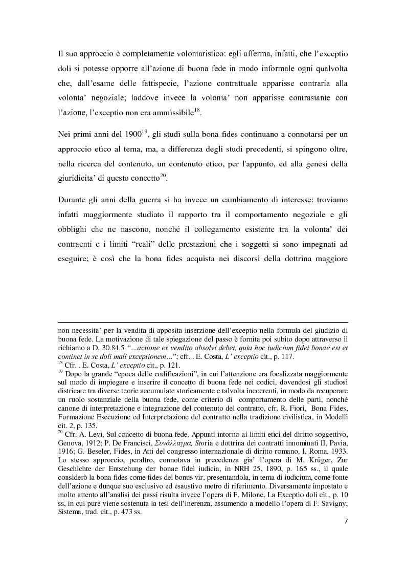 Anteprima della tesi: Exceptio doli e iudicia bonae fidei, Pagina 8