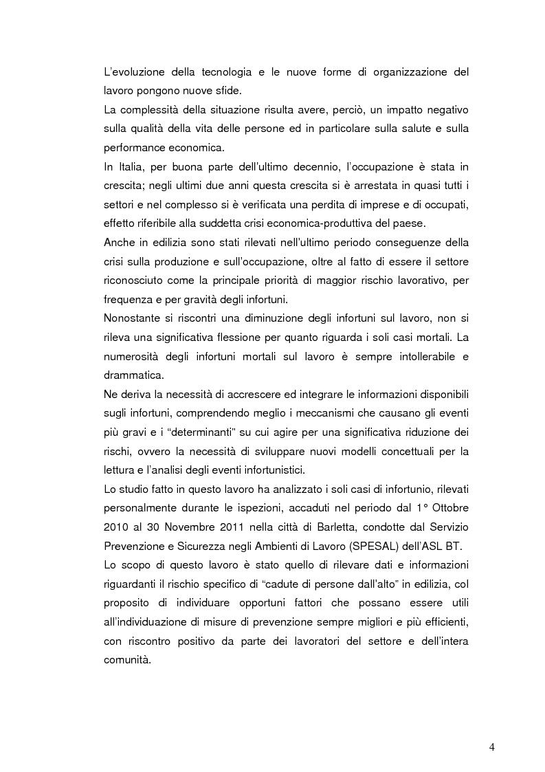 Anteprima della tesi: La sicurezza nei cantieri edili: le cadute dall'alto, Pagina 3