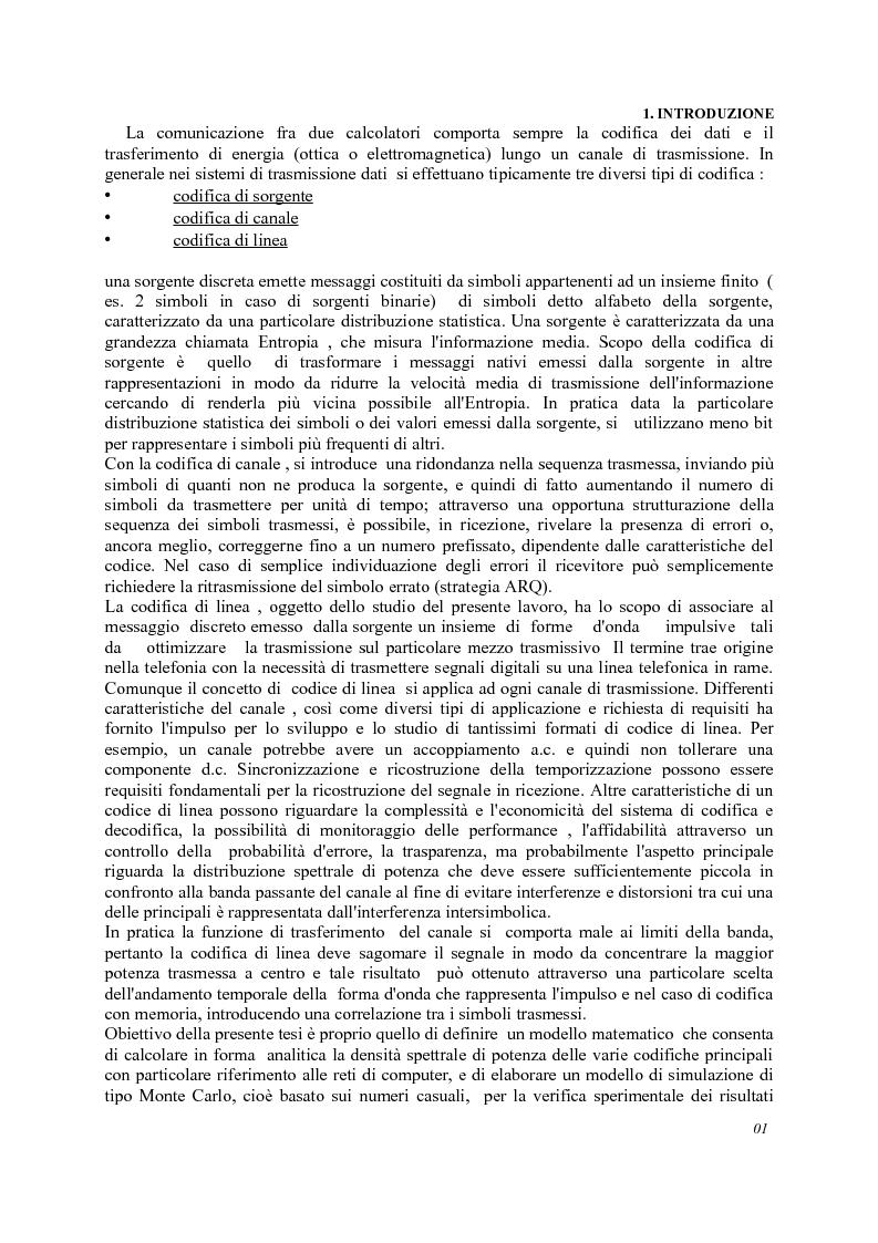 Anteprima della tesi: Analisi codici di linea, Pagina 2