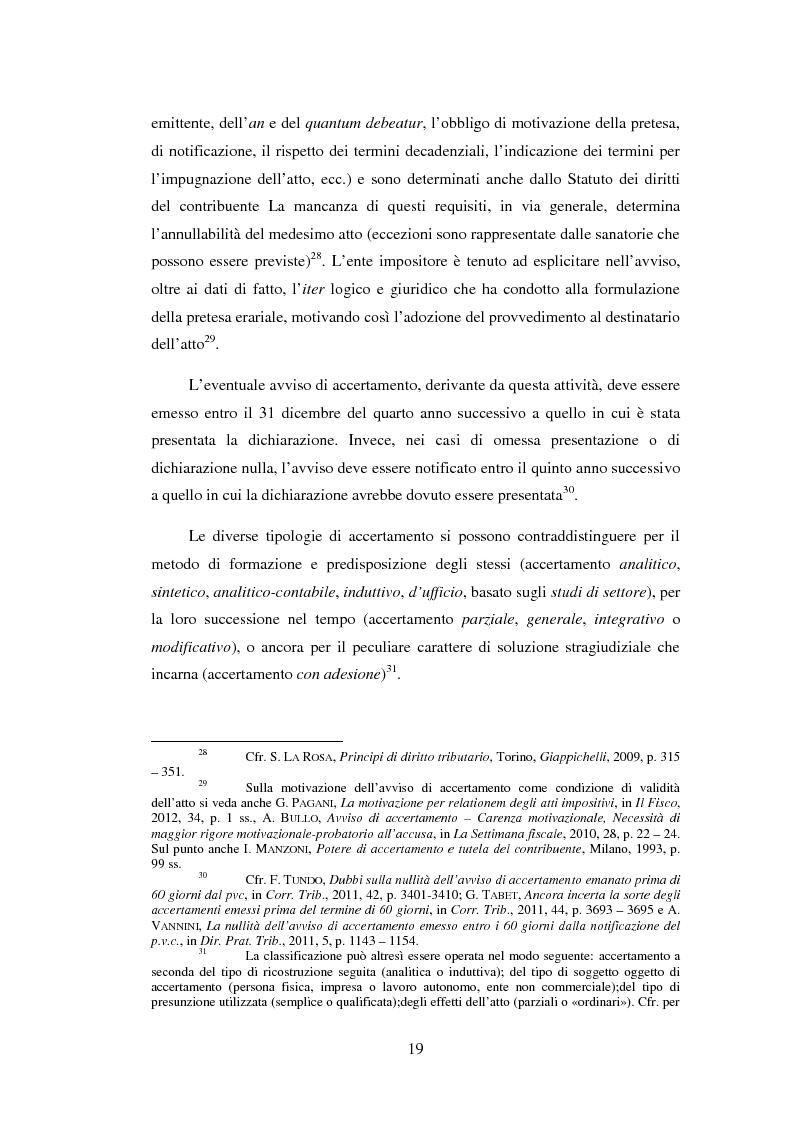 Anteprima della tesi: L'efficacia esecutiva degli avvisi di accertamento, Pagina 11