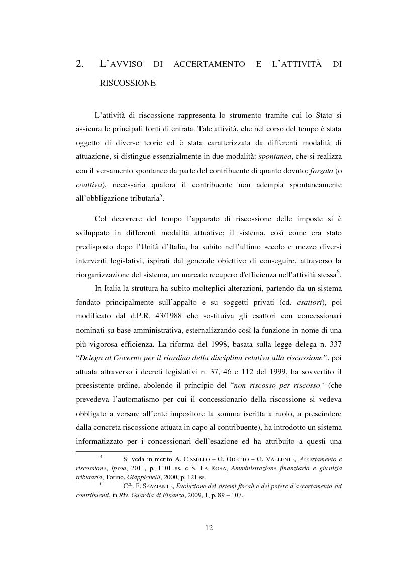 Anteprima della tesi: L'efficacia esecutiva degli avvisi di accertamento, Pagina 4