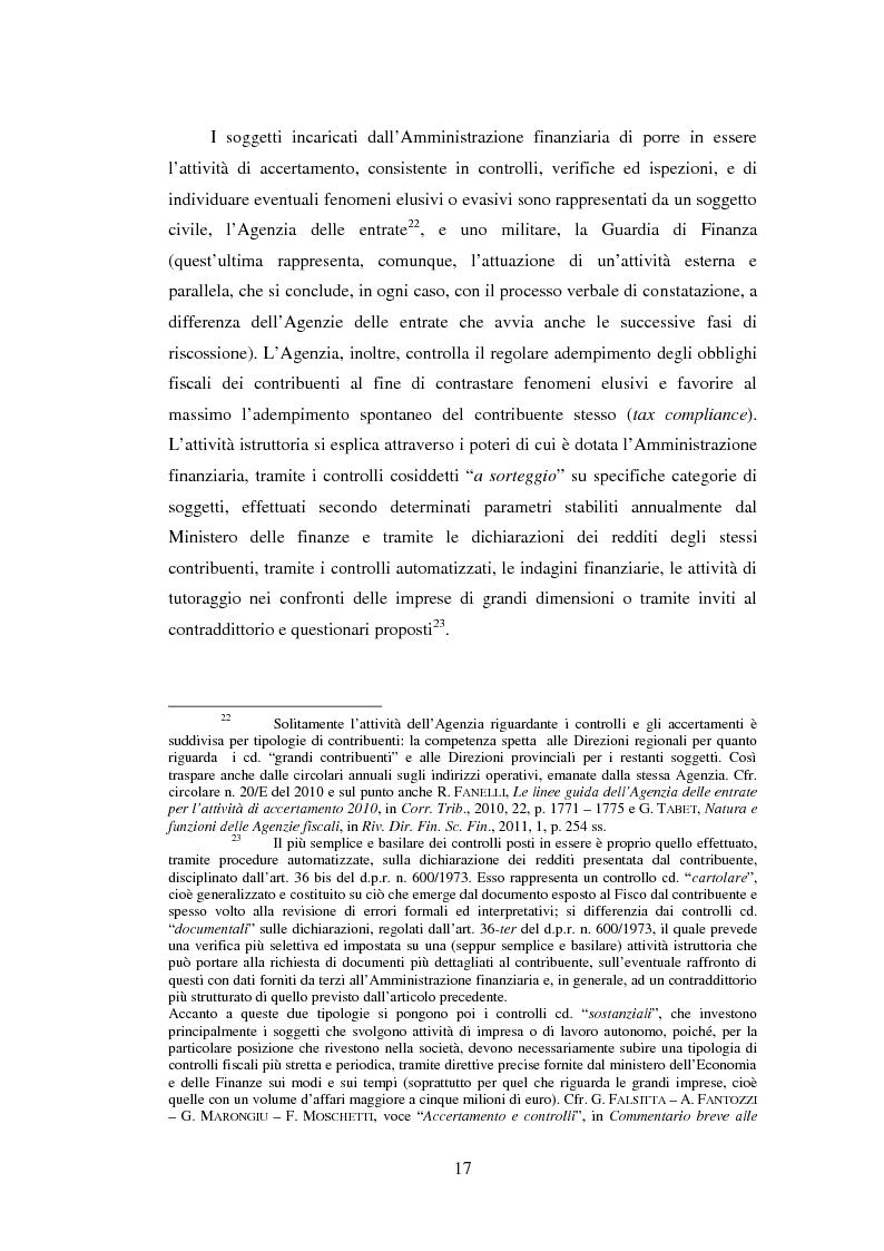 Anteprima della tesi: L'efficacia esecutiva degli avvisi di accertamento, Pagina 9