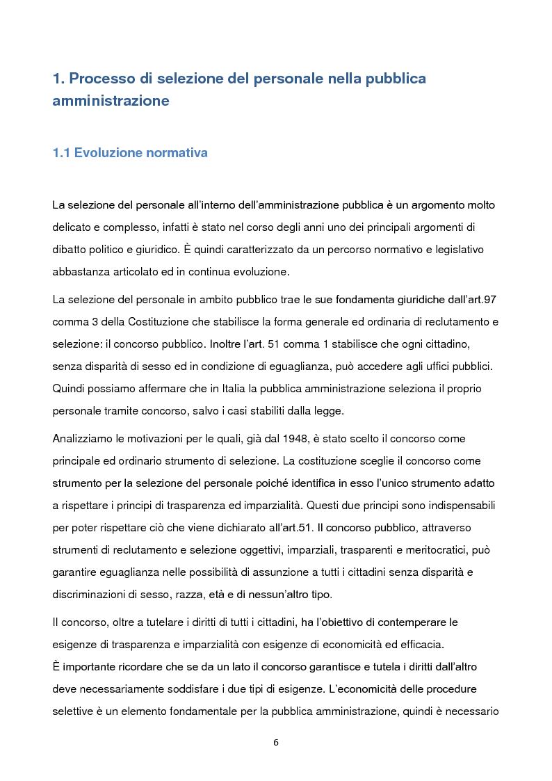 Anteprima della tesi: La selezione del personale nella pubblica amministrazione. Analisi di casi internazionali e proposte di miglioramento., Pagina 3