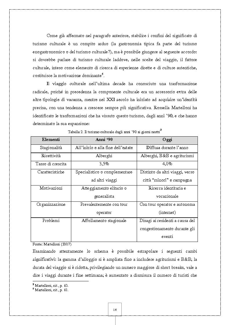 Anteprima della tesi: Il Cineturismo: una nuova forma di turismo culturale e una strategia privilegiata di marketing territoriale, Pagina 12