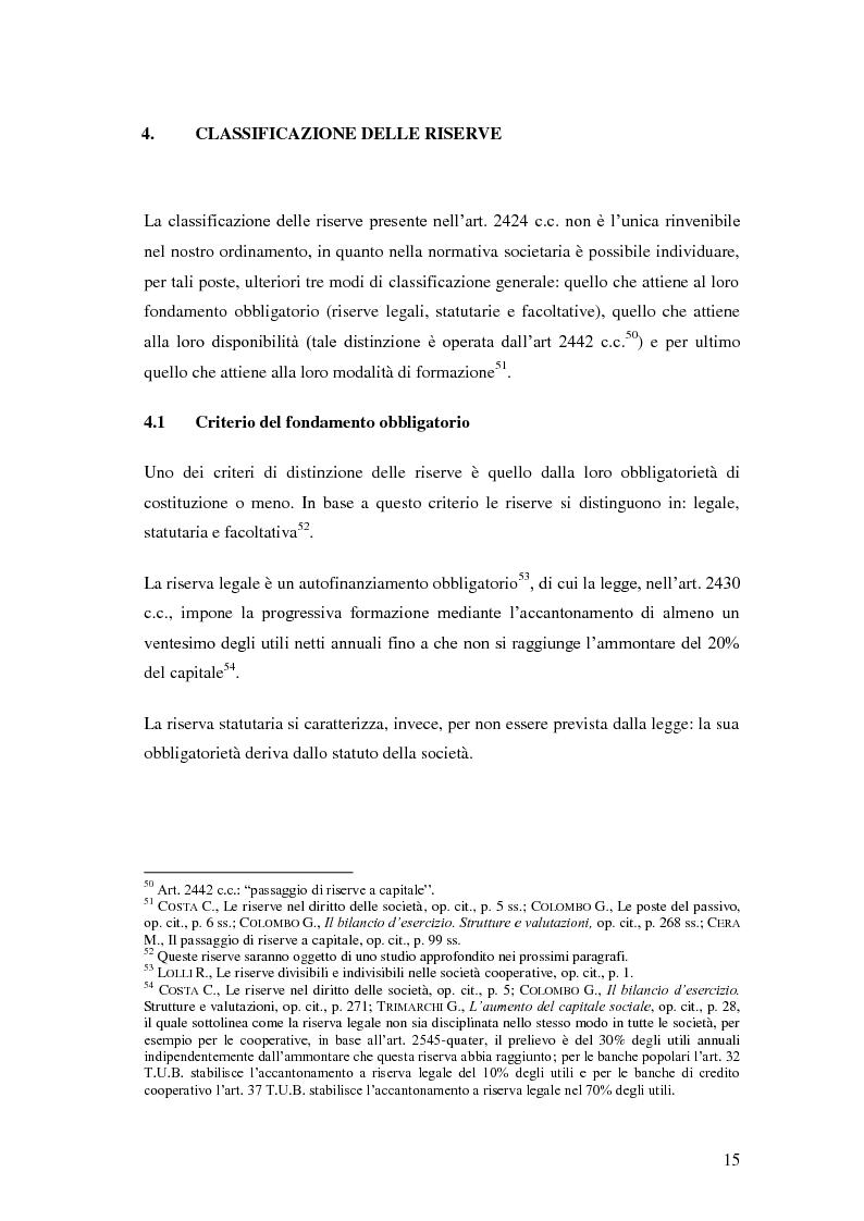 Anteprima della tesi: Le riserve nel diritto societario italiano e gli IAS, Pagina 11