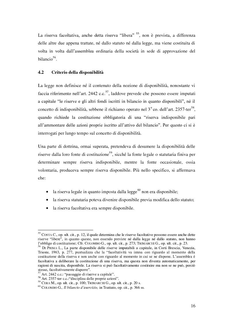 Anteprima della tesi: Le riserve nel diritto societario italiano e gli IAS, Pagina 12