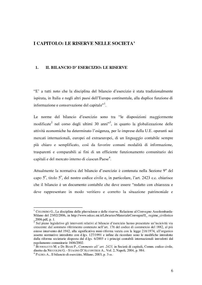 Anteprima della tesi: Le riserve nel diritto societario italiano e gli IAS, Pagina 2