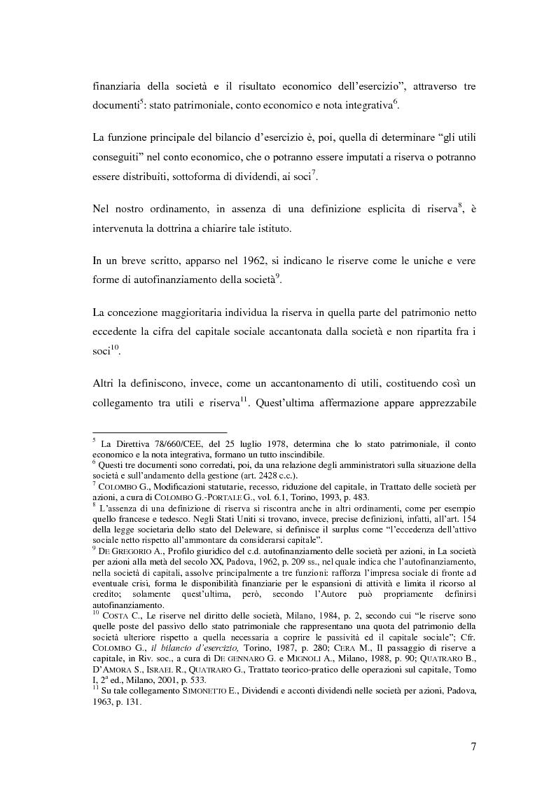 Anteprima della tesi: Le riserve nel diritto societario italiano e gli IAS, Pagina 3