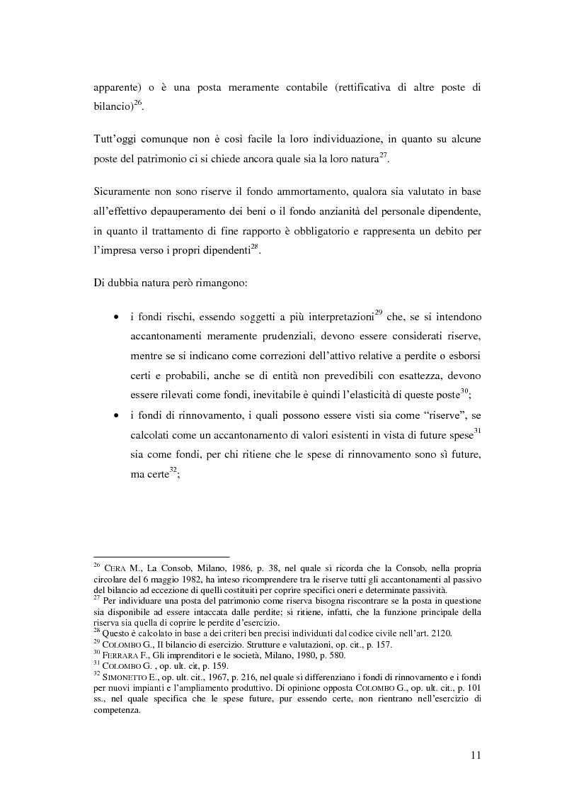 Anteprima della tesi: Le riserve nel diritto societario italiano e gli IAS, Pagina 7