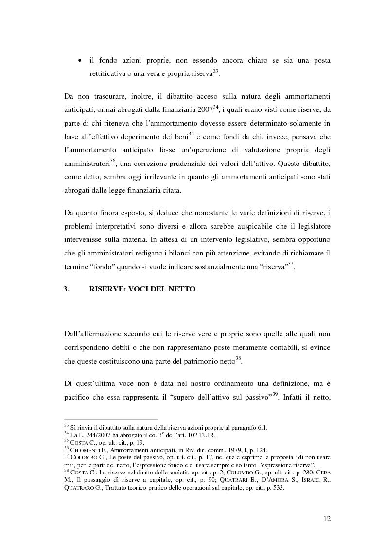 Anteprima della tesi: Le riserve nel diritto societario italiano e gli IAS, Pagina 8