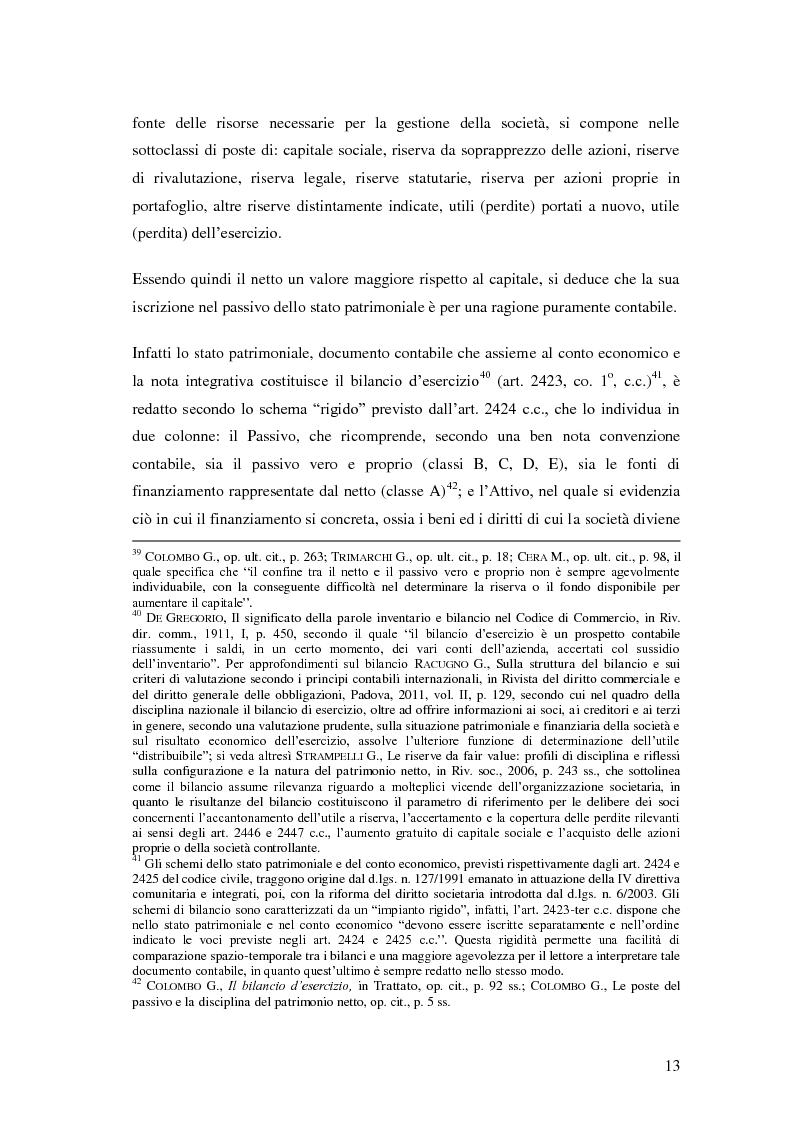 Anteprima della tesi: Le riserve nel diritto societario italiano e gli IAS, Pagina 9
