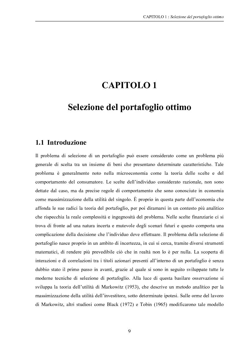 Anteprima della tesi: Modelli di ottimizzazione per la selezione di portafoglio, Pagina 7
