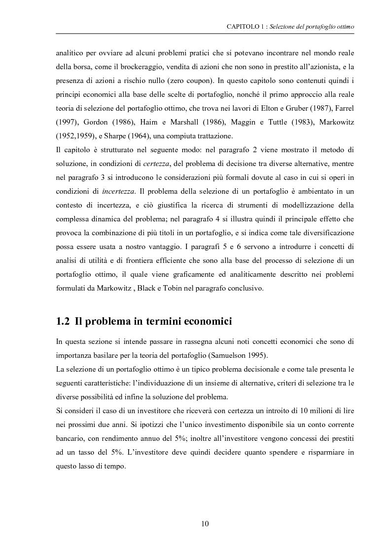 Anteprima della tesi: Modelli di ottimizzazione per la selezione di portafoglio, Pagina 8