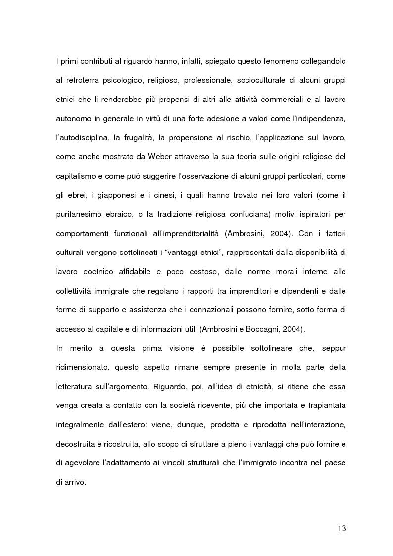 Anteprima della tesi: Imprenditoria immigrata in Provincia di Milano. Opportunità economiche, istituzionali e sociali., Pagina 10