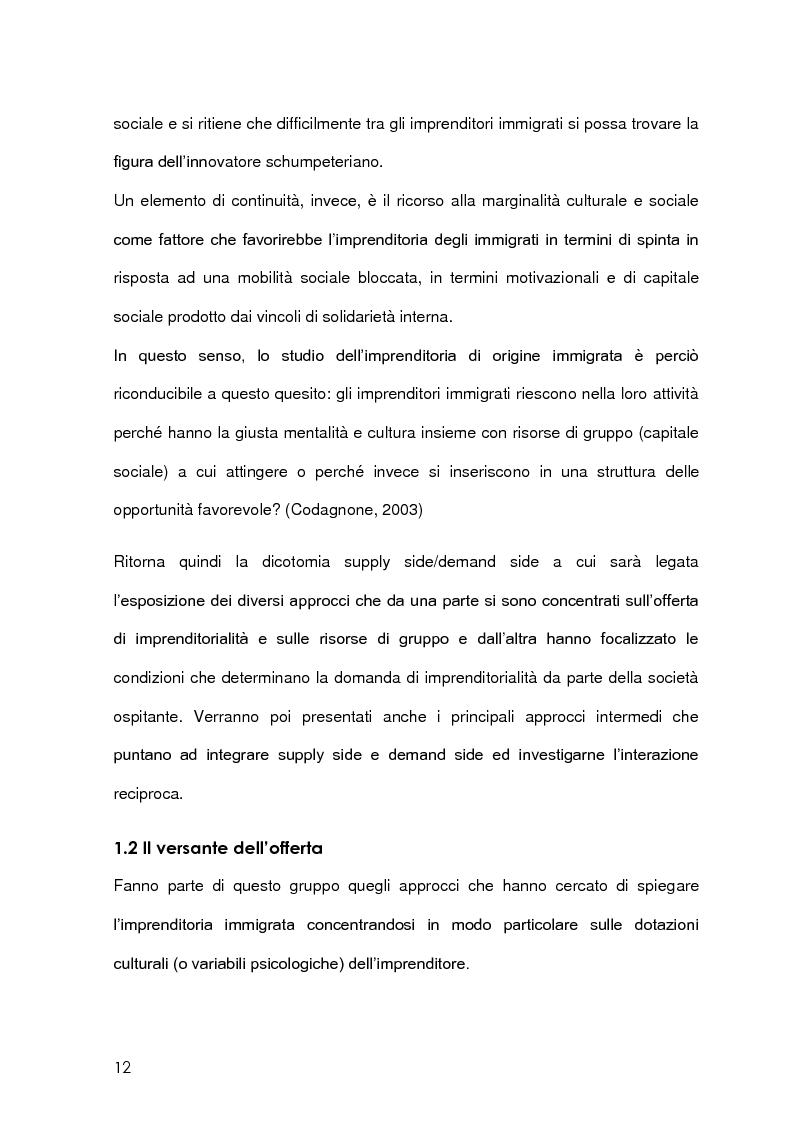 Anteprima della tesi: Imprenditoria immigrata in Provincia di Milano. Opportunità economiche, istituzionali e sociali., Pagina 9