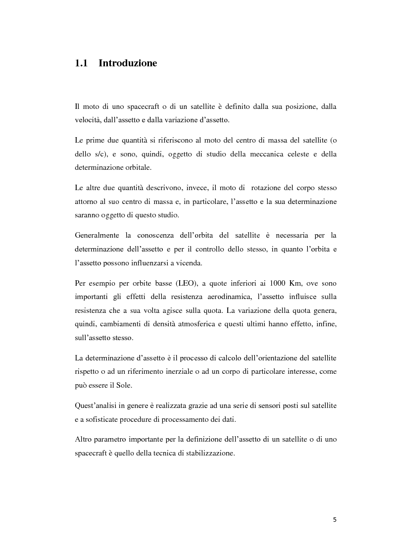 Anteprima della tesi: Algoritmi per la determinazione d'assetto mediante sensori di temperatura., Pagina 3
