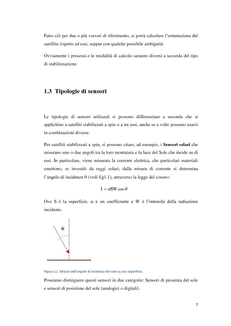 Anteprima della tesi: Algoritmi per la determinazione d'assetto mediante sensori di temperatura., Pagina 5