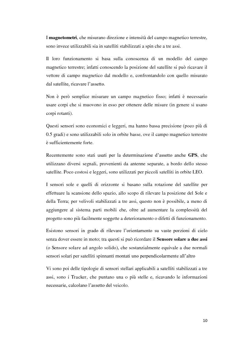 Anteprima della tesi: Algoritmi per la determinazione d'assetto mediante sensori di temperatura., Pagina 8
