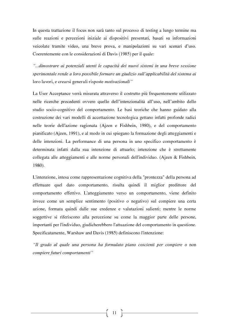 Anteprima della tesi: Tecnologie Indossabili: la valutazione dell'esperienza dell'utente in 6 differenti scenari d'uso., Pagina 8