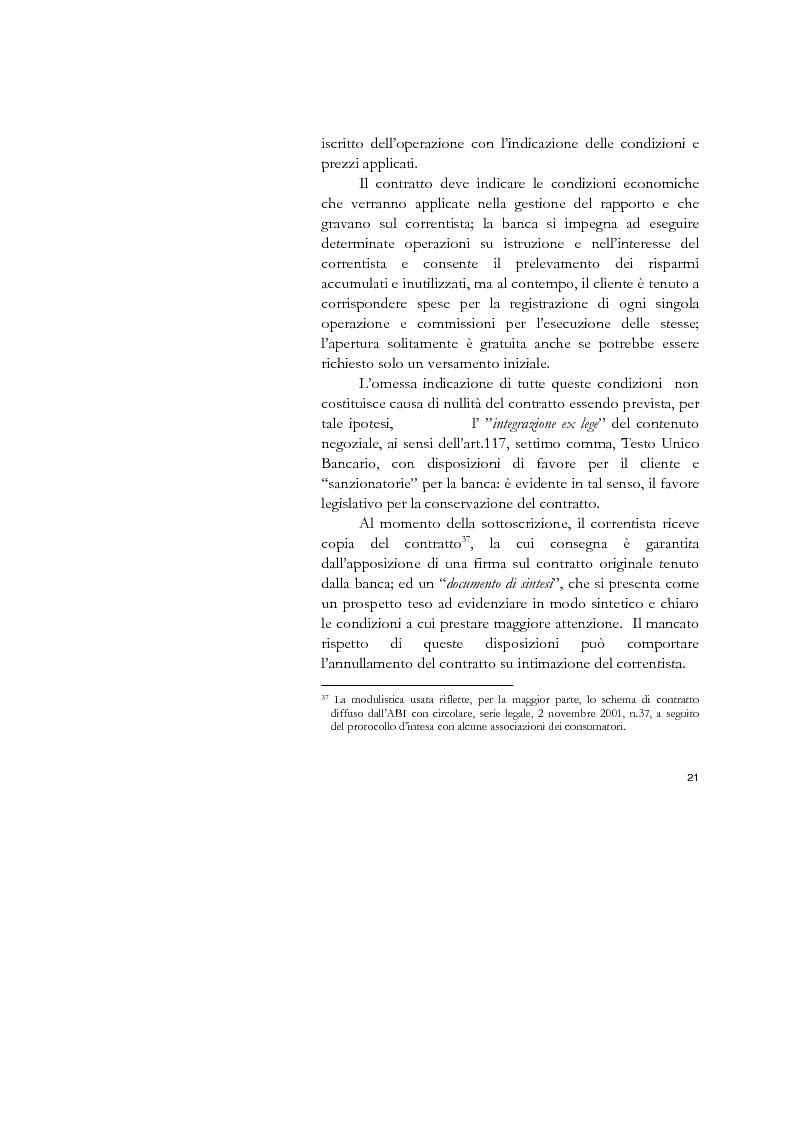 Estratto dalla tesi: Il conto corrente bancario e la revocatoria fallimentare delle rimesse