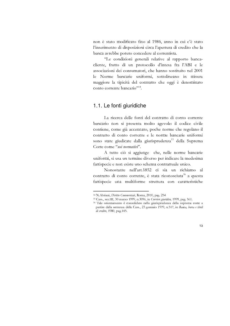 Anteprima della tesi: Il conto corrente bancario e la revocatoria fallimentare delle rimesse, Pagina 11