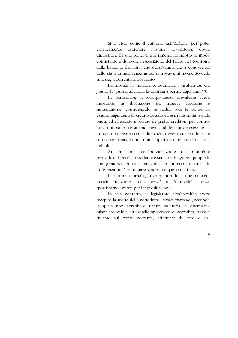 Anteprima della tesi: Il conto corrente bancario e la revocatoria fallimentare delle rimesse, Pagina 4