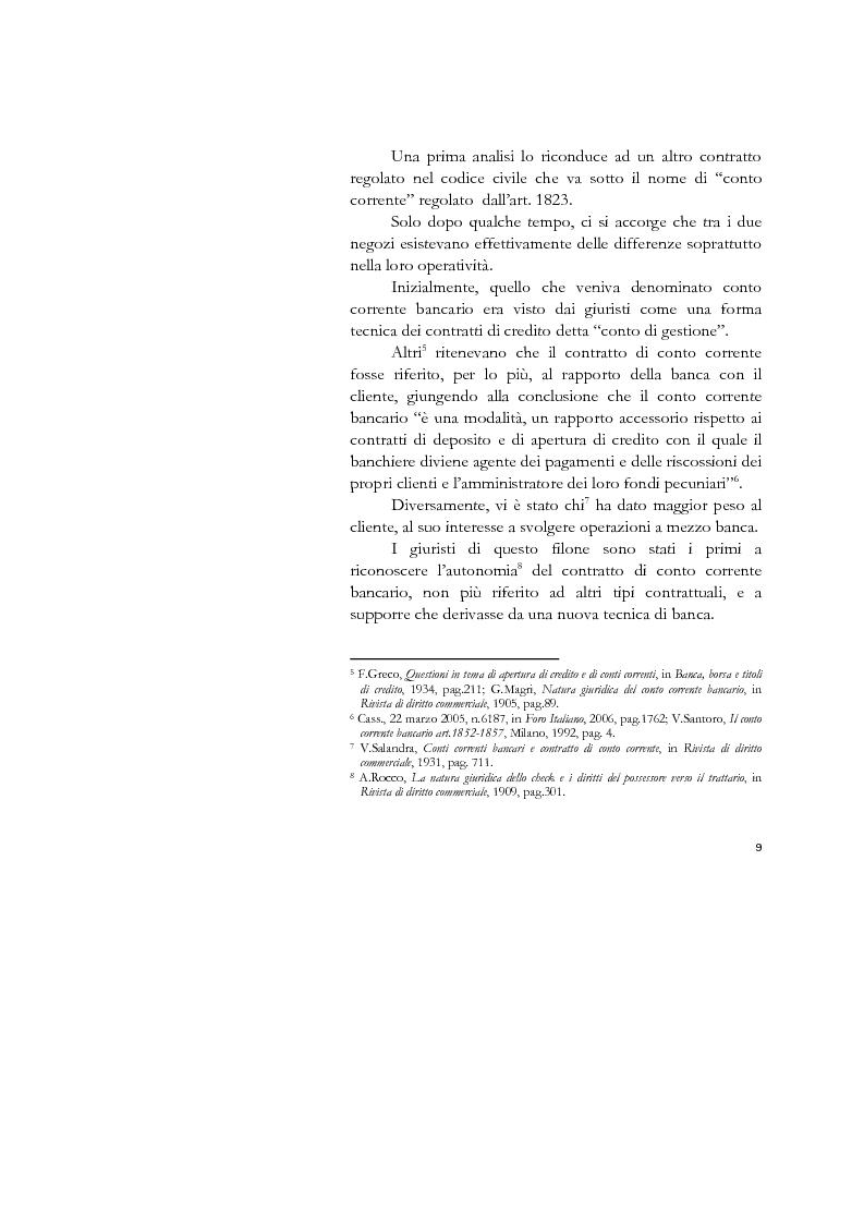 Anteprima della tesi: Il conto corrente bancario e la revocatoria fallimentare delle rimesse, Pagina 7