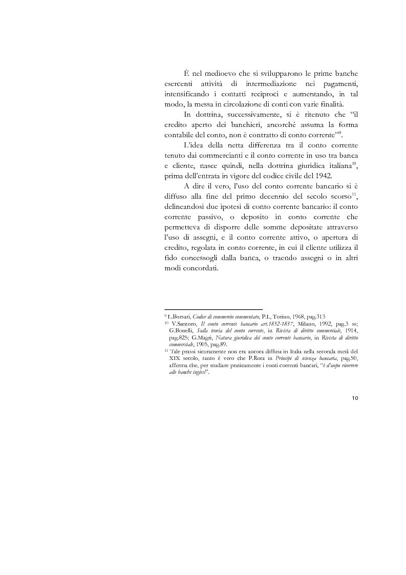 Anteprima della tesi: Il conto corrente bancario e la revocatoria fallimentare delle rimesse, Pagina 8