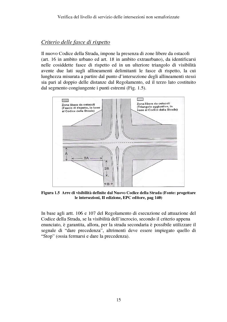 Anteprima della tesi: Verifica del Livello di Servizio delle Intersezioni non semaforizzate, Pagina 10