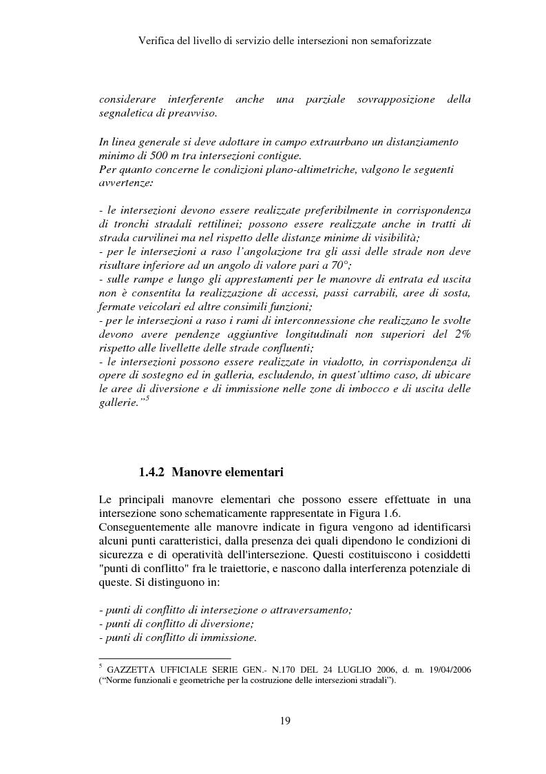 Anteprima della tesi: Verifica del Livello di Servizio delle Intersezioni non semaforizzate, Pagina 14