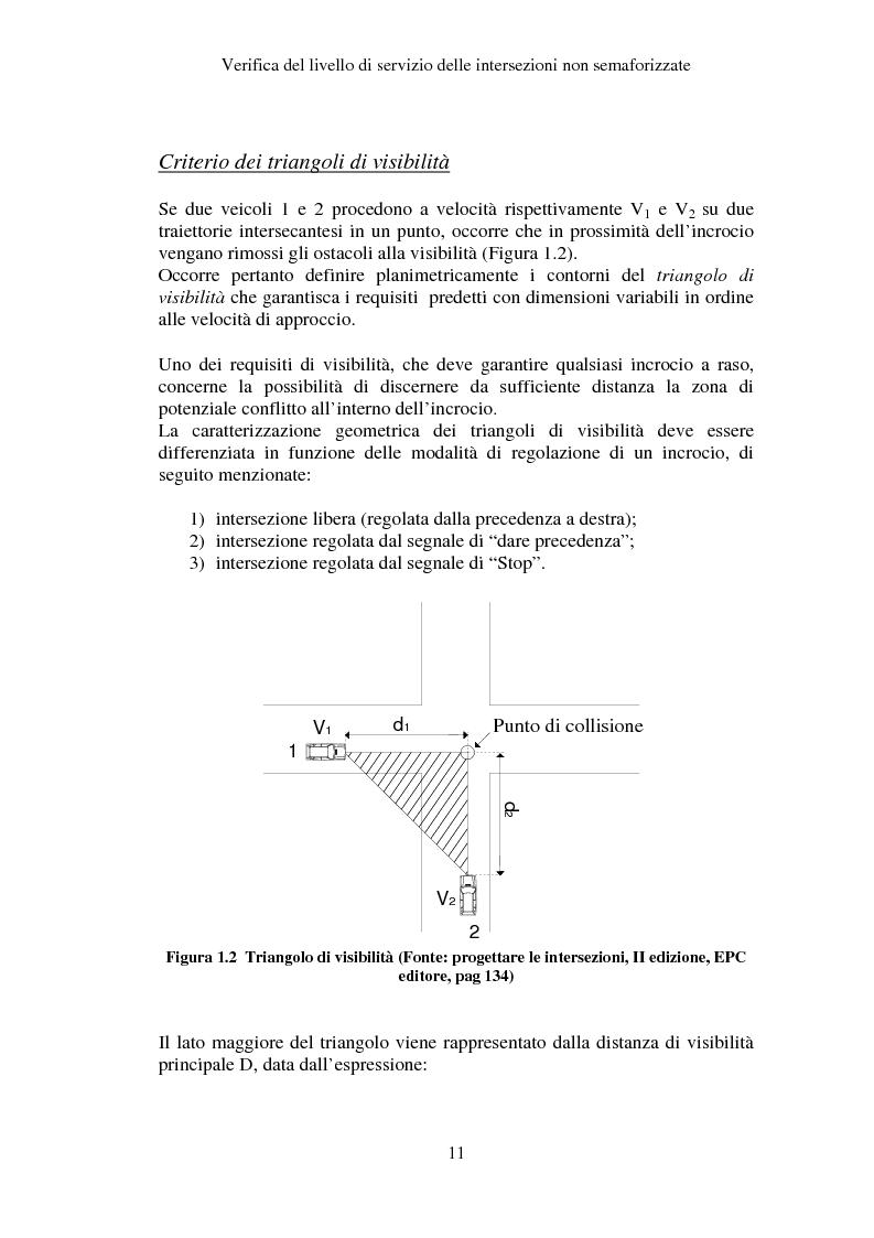 Anteprima della tesi: Verifica del Livello di Servizio delle Intersezioni non semaforizzate, Pagina 6