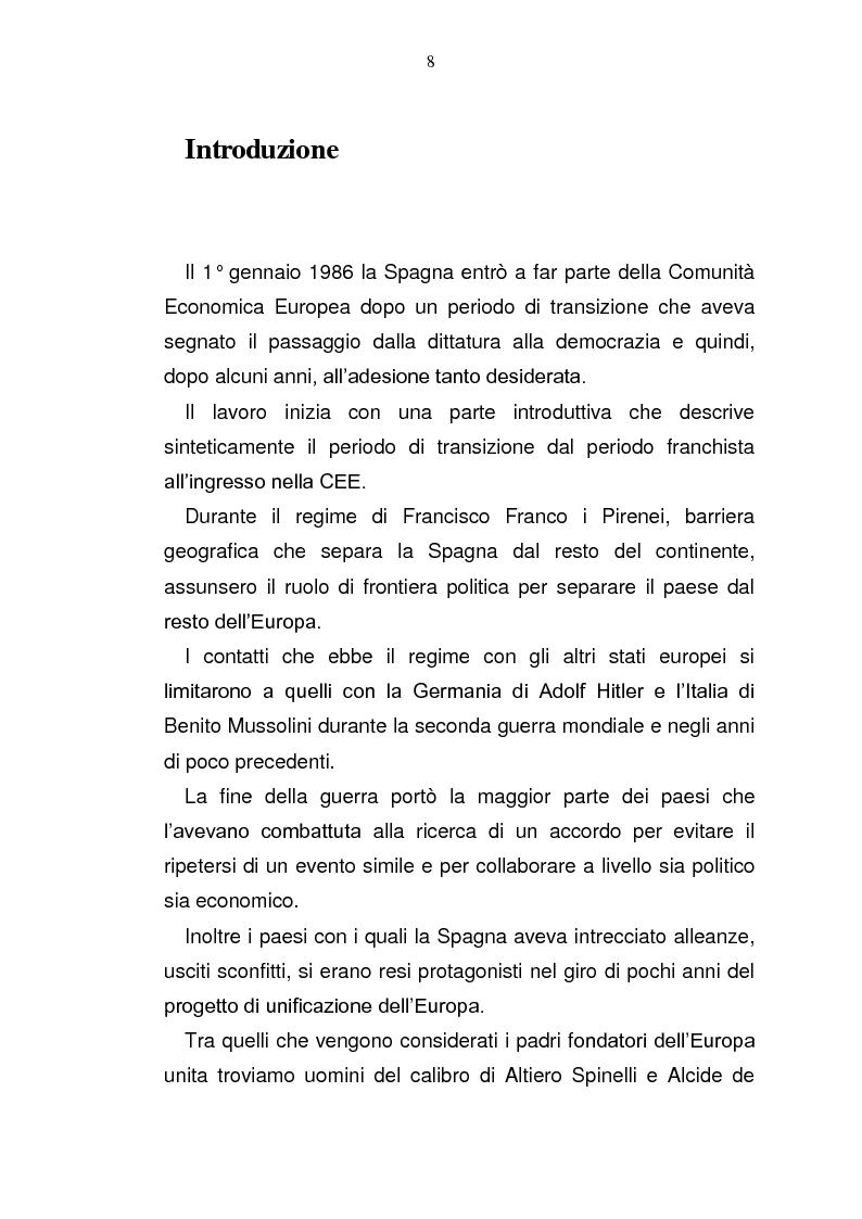 Anteprima della tesi: La Spagna in Europa: un modello per l'allargamento a Est, Pagina 2