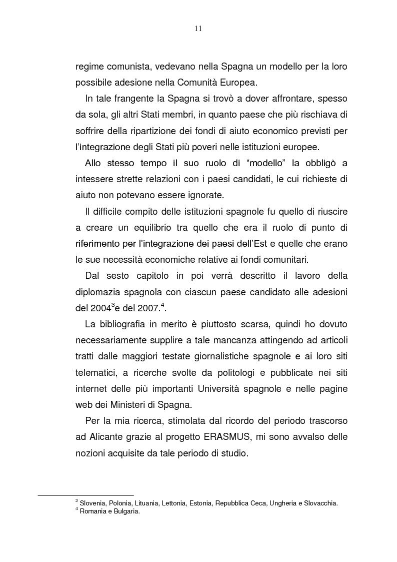 Anteprima della tesi: La Spagna in Europa: un modello per l'allargamento a Est, Pagina 5
