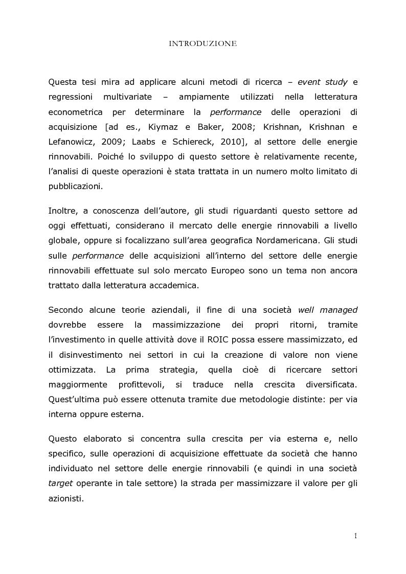 Anteprima della tesi: M&A nel settore delle energie rinnovabili in Europa: uno studio delle performance, Pagina 2