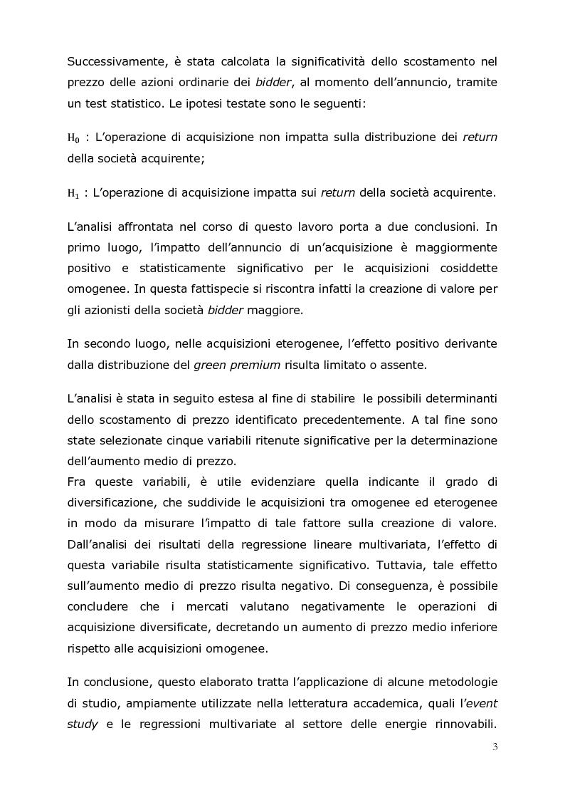 Anteprima della tesi: M&A nel settore delle energie rinnovabili in Europa: uno studio delle performance, Pagina 4
