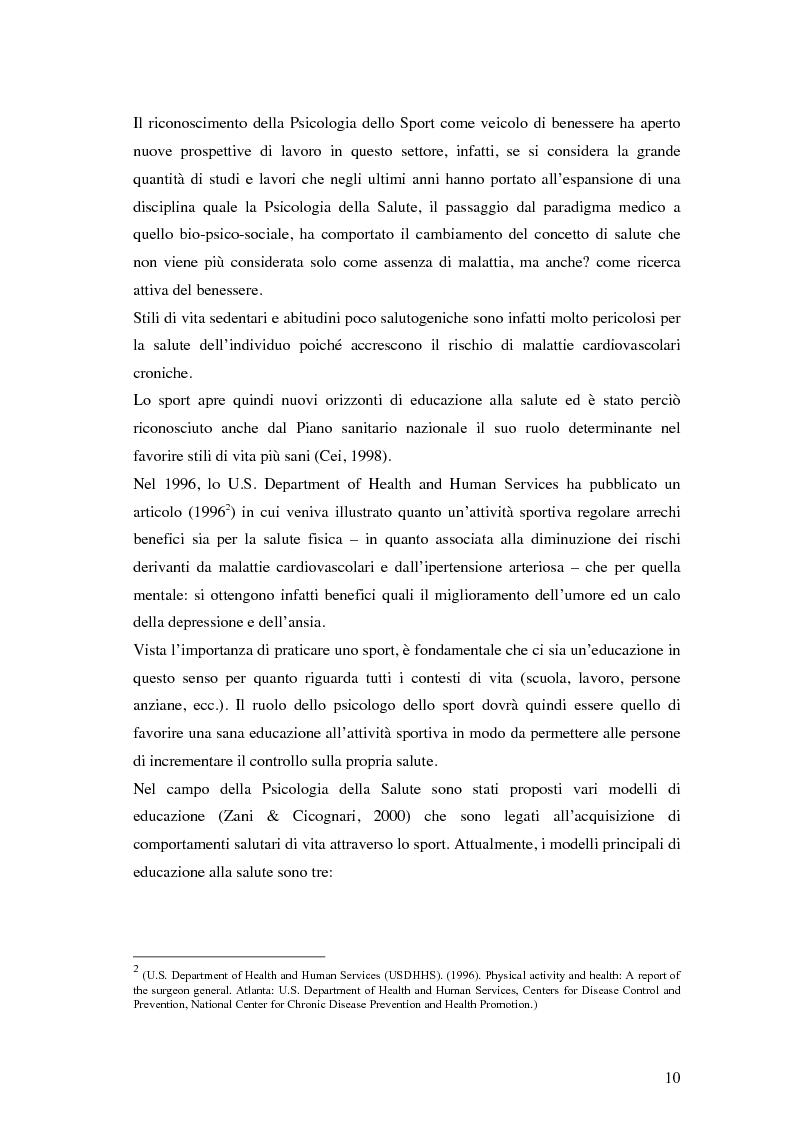 Anteprima della tesi: Coesione di gruppo e dinamiche psicologiche nello sport: uno studio su squadre giovanili di calcio , Pagina 6
