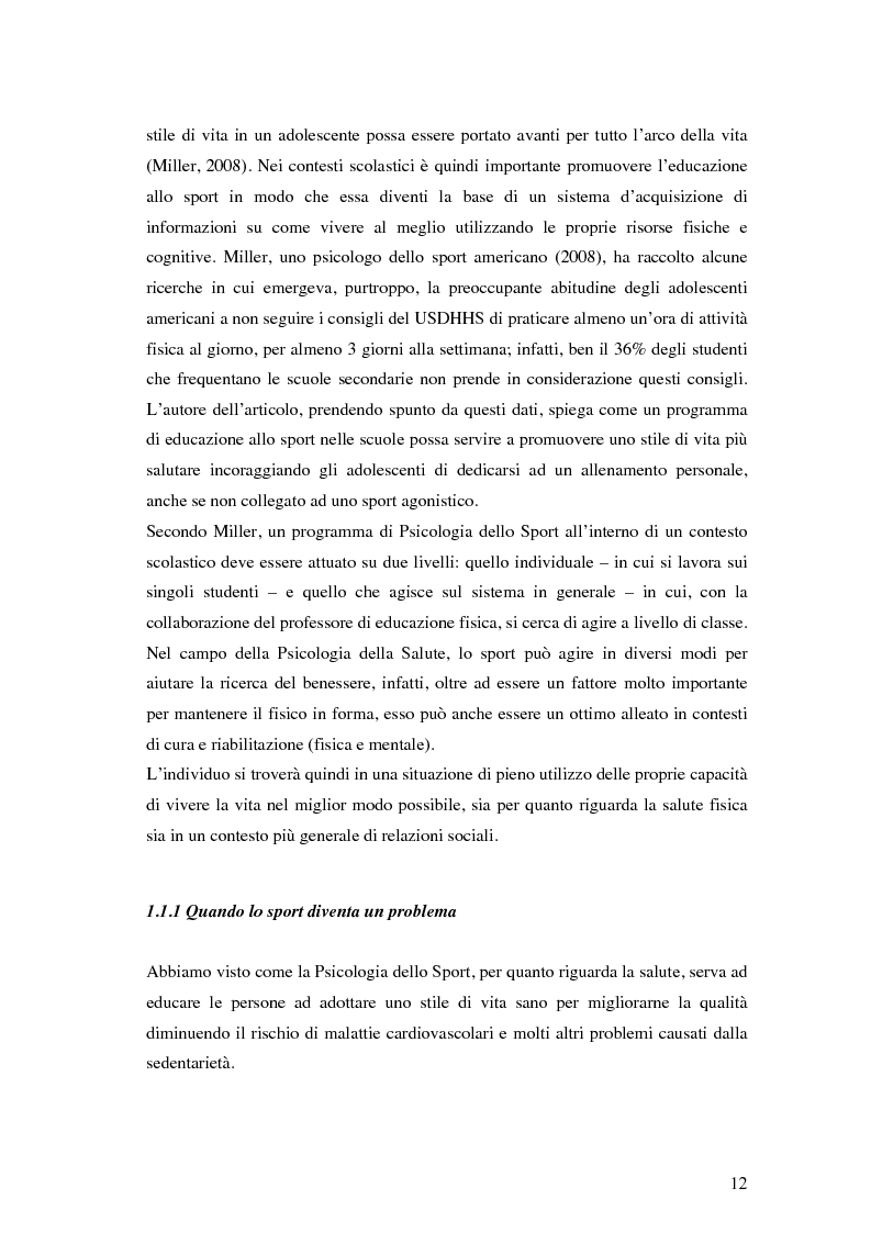Anteprima della tesi: Coesione di gruppo e dinamiche psicologiche nello sport: uno studio su squadre giovanili di calcio , Pagina 8
