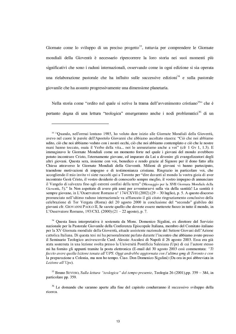 Anteprima della tesi: Le Giornate Mondiali della Gioventù: sviluppo storico, significato ecclesiale - pastorale e indagine tra i giovani lodigiani., Pagina 11