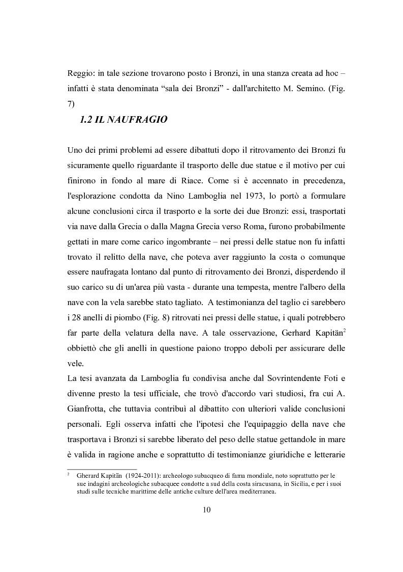Anteprima della tesi: La fortuna dei Bronzi di Riace, Pagina 8
