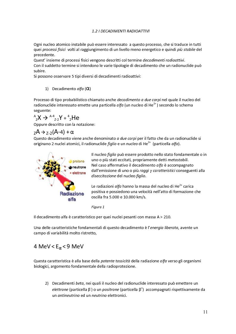 Anteprima della tesi: La radioattività nelle acque destinate al consumo umano nella Regione Toscana, Pagina 7