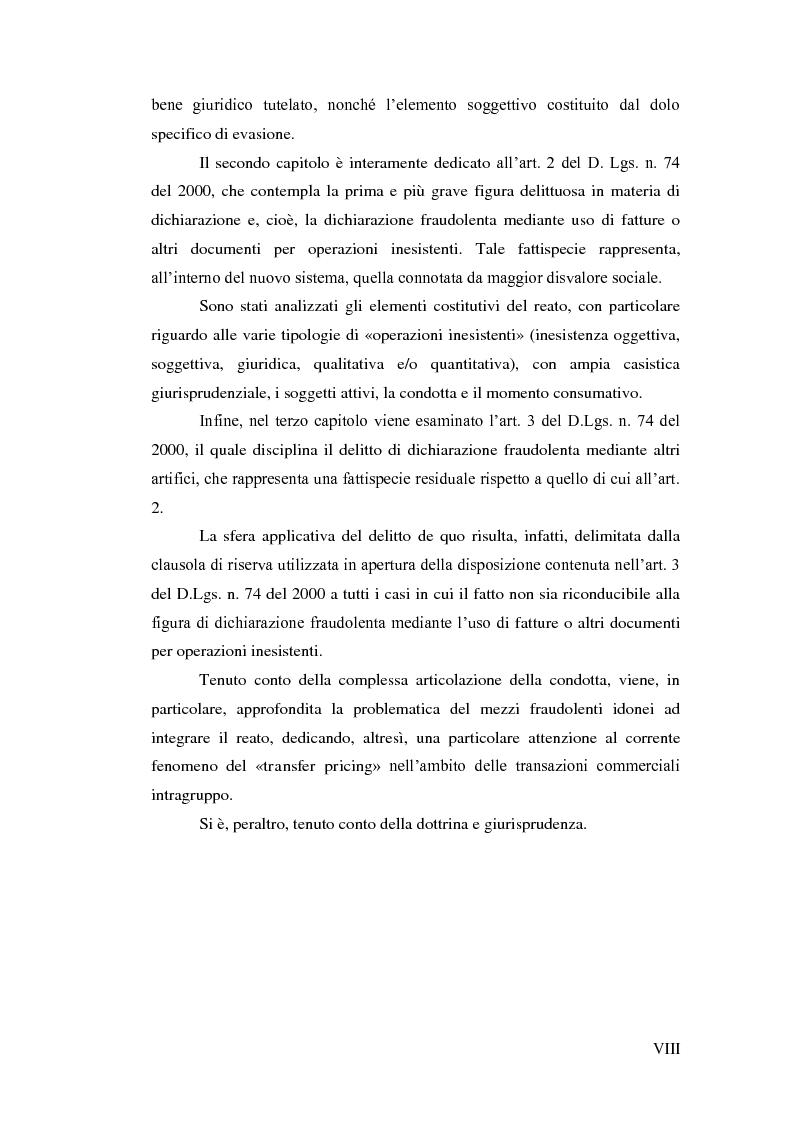Anteprima della tesi: La dichiarazione fraudolenta, Pagina 4