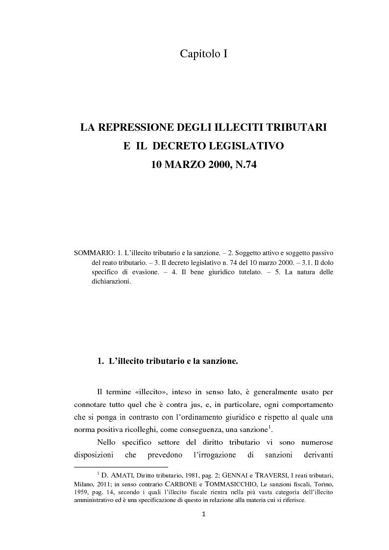 Anteprima della tesi: La dichiarazione fraudolenta, Pagina 5