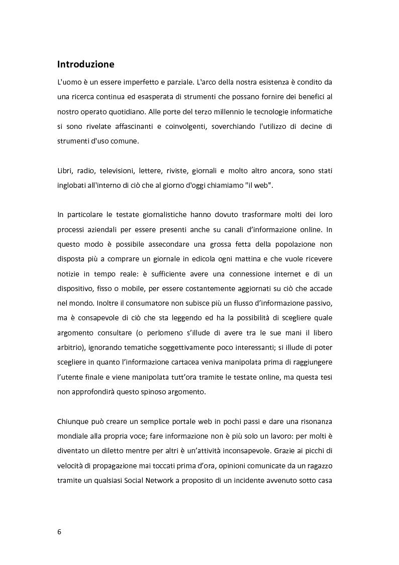 Anteprima della tesi: Gestione di comunità virtuali per la generazione cooperativa di notizie giornalistiche, Pagina 2