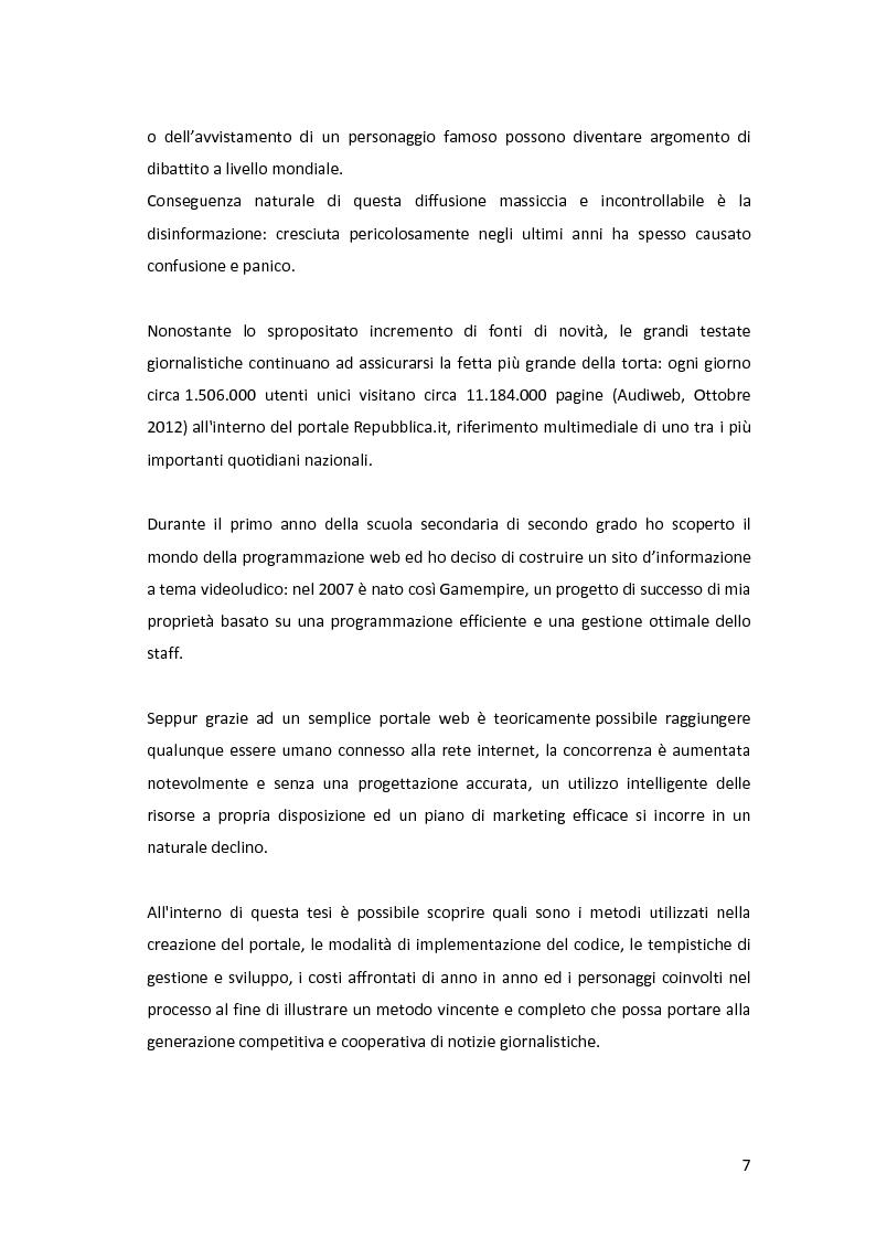 Anteprima della tesi: Gestione di comunità virtuali per la generazione cooperativa di notizie giornalistiche, Pagina 3