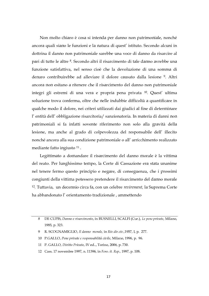 Anteprima della tesi: Il risarcimento del danno non patrimoniale con pregiudizi esistenziali, Pagina 11