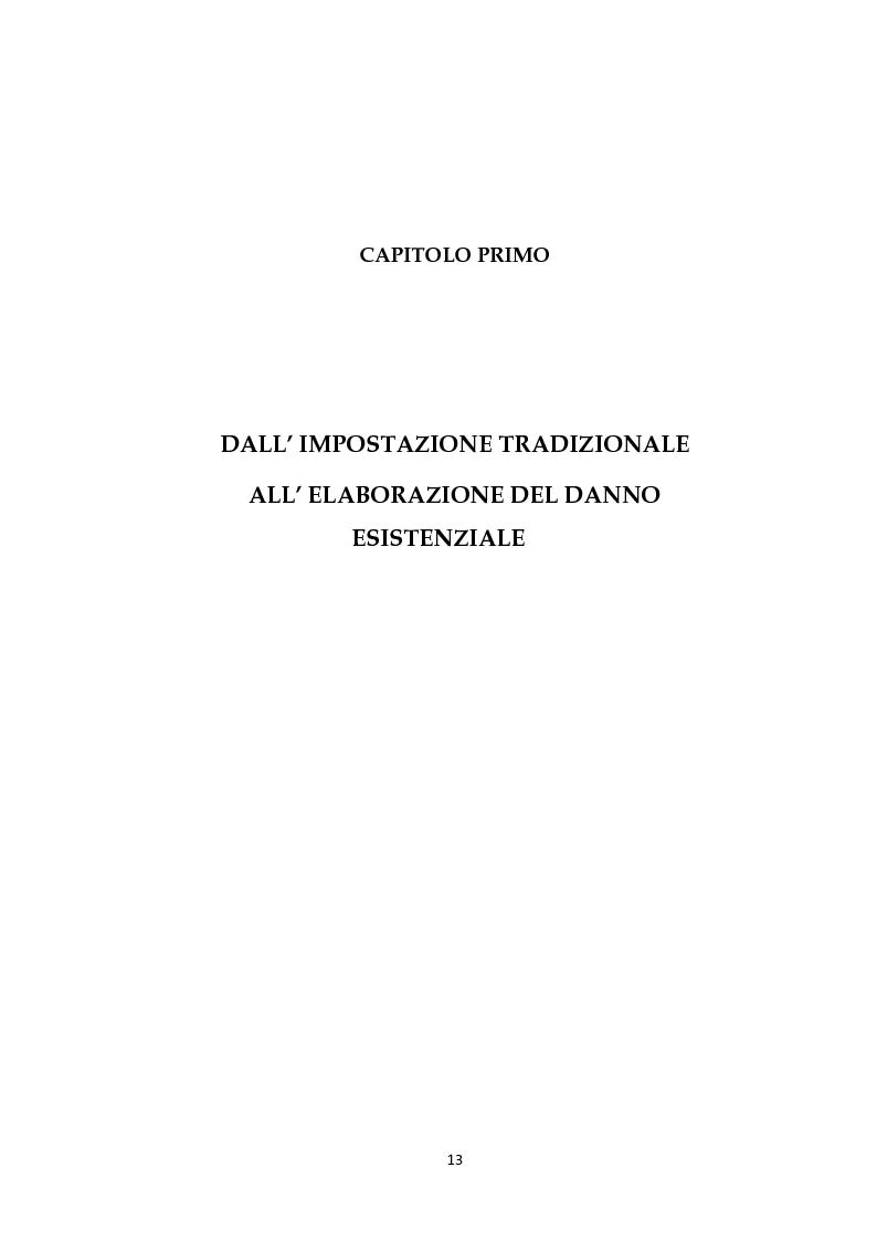 Anteprima della tesi: Il risarcimento del danno non patrimoniale con pregiudizi esistenziali, Pagina 7