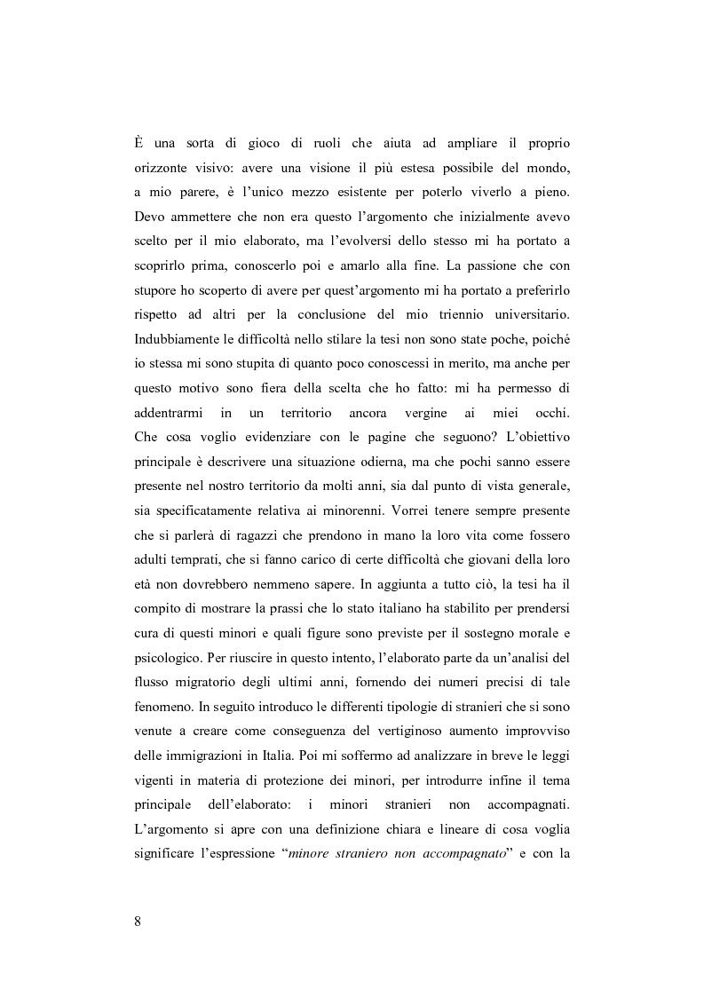 Anteprima della tesi: Minori stranieri in Italia in condizioni difficili: il caso dei minori non accompagnati, Pagina 3