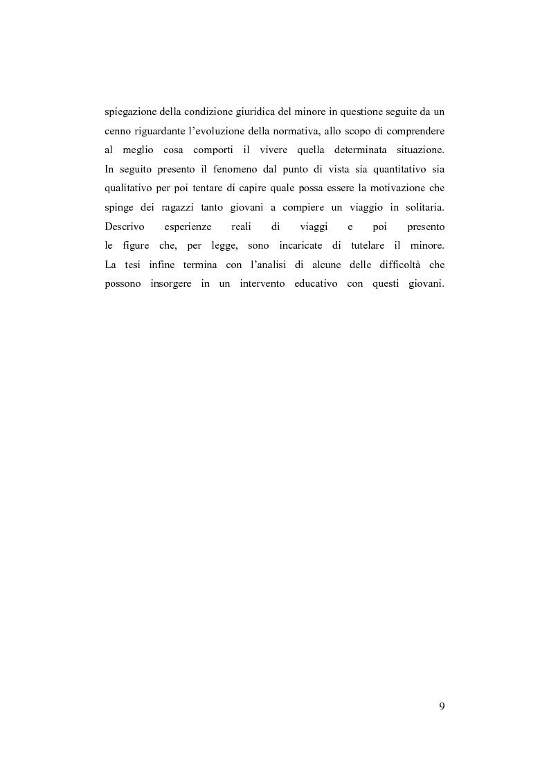 Anteprima della tesi: Minori stranieri in Italia in condizioni difficili: il caso dei minori non accompagnati, Pagina 4